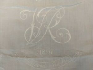 Nice Original 1897 Royal Household Queen Victoria Jubilee Tablecloth