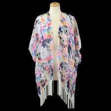 Watercolor Printed FASHION Kimono