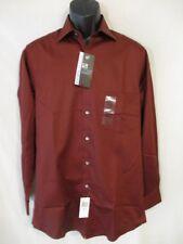 Van Heusen Cotton Blnd Cinnamon Reg Fit Lux Sateen Point Shirt SR$45 NEW