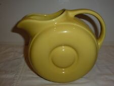 Hall U.S.A. Circle Design Pottery Pitcher, Yellow