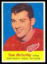 1957-58 TOPPS HOCKEY #37 TOM McCARTHY EX-NM ROOKIE DETROIT RED WINGS RC