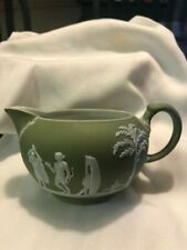 Wedgewood England green jasperware creamer bowl/pitcher