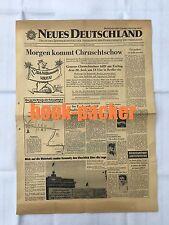NEUES DEUTSCHLAND (27.6.1963): Morgen kommt Chruschtschow [nach Kennedy]