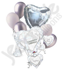 7 pc White Baby Communion Celebrate Balloon Bouquet Party Decoration Religious