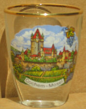 Cochem Germany Mosel shot glass new vintage collectible 1995 gold rim wine