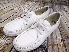 SAS women's ladies oxfords flats size 7.5 S white leather Hospital shoes Nursing