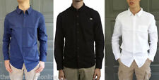 Long Sleeve Solid Pattern 100% Cotton Casual Shirts for Men