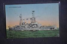 USS Battleship Rhode Island Postcard