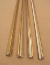 Lot de 4 anciennes baguettes en bois doré des années 1960 - longueur 50 cm