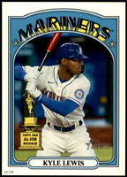 Kyle Lewis 2021 Topps Heritage 5x7 Variations #101 /49 Mariners Throwback