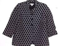 14 Coldwater Creek black & white geometric blazer