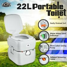 22L Portable Toilet Outdoor Camping Caravan Marine Motorhome RV Potty Boating