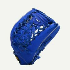 "ZETT 13"" Baseball Softball Gloves Outfield Leather Right Hand RHT T Web Blue"