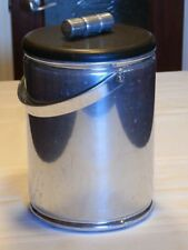 Vintage Aluminum Ice Bucket; Built in Ice Pick; Barware