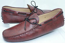 New Tod's Men's Shoes Loafers Drivers Size 8 Slip On Gommini Leather
