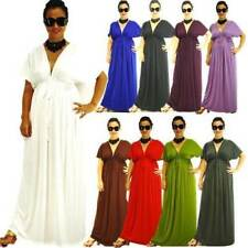 Polyester/Spandex V-Neck Casual Dresses for Women