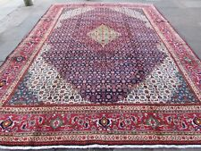 Old Hand Made Traditional Vintage Rugs Oriental Wool Blue Large Carpet 387x293cm