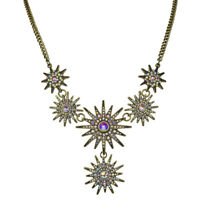 Kirks Folly Mystic Super Star Necklace (Antique Brasstone)