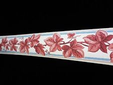 Vintage 1930's Trimz Wallpaper Border Autumn Ivy Brown Leaves  Hand Painted MINT