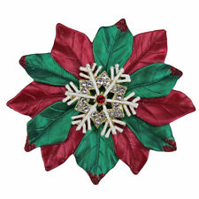RUCINNI Christmas Flower/Snowflake Brooch, 20K Gold Plated