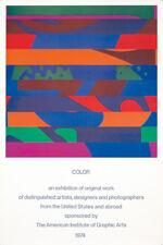 Original Vintage Poster Color Exhibition Graphic Design Colin Forbes 1974