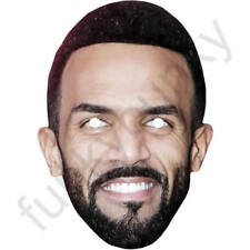 Craig David Celebrity Singer Card Mask - Fully Cut With Elastic & Fixings