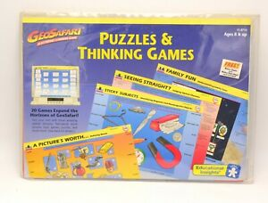 Vintage GEOSafari EI-8714 Puzzles & Thinking Games Educational Cards & Case