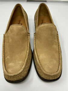 e Tommy Bahama Mens 11.5 South Shore Suede Loafers Shoes