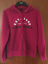Tommy Hilfiger Ladies Fuschia (Pink) Cotton Blend Zipped Hooded Sweat Top, Large