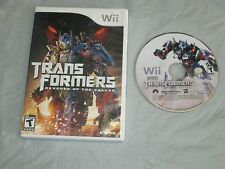 Transformers: Revenge of the Fallen (Nintendo Wii, 2009) with box