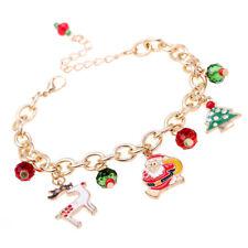 Bracelets Elk Bracelet Santa Claus Christmas Gift Jewelry Party For Men Women