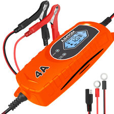 4A 6/12V Smart Battery Charger 8-Stage Charging Car Truck Motorcycle Boat RV ATV
