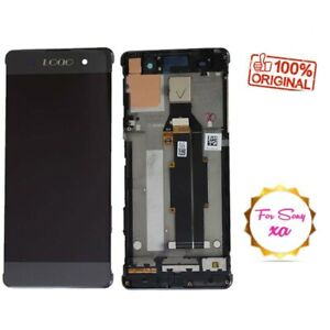Replacement Complete Lcd Touch screen Frame Black for Sony Xperia XA F3111 F3113