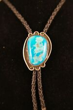 Navajo Bolo. Silver. Turquoise. Men's Jewelry. Tribal. Pendent.