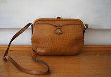 Goldpfeil Caracciola Tasche, schöne Vintage Handtasche, Leder, 100 % Original