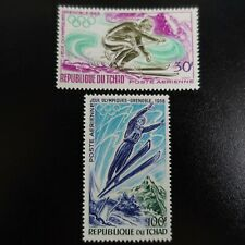 TCHAD POSTE AÉRIENNE PA N°44/45 JEUX OLYMPIQUES GRENOBLE 1968 NEUF ** LUXE MNH