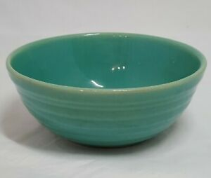 """Bauer 5"""" Ribbed Pottery Green Bowl Cereal Soup Vintage"""