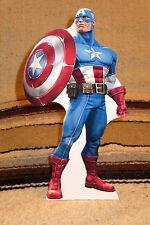 "Captain America Illustration Figure Tabletop Display Standee 10.5"" Tall"