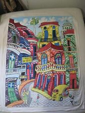 CUBAN Art Acrylic Oleo Painting Arte Cubano  OLD HAVANA