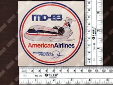 AMERICAN AIRLINES AA ROUND PUDGY MD83 MD 83 DECAL / STICKER 3.5x3.5in / 9x9cm