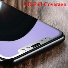 iPhone X 3D FULL COVER Panzerglas Panzerfolie Schwarz AntiBlueLight Weiss