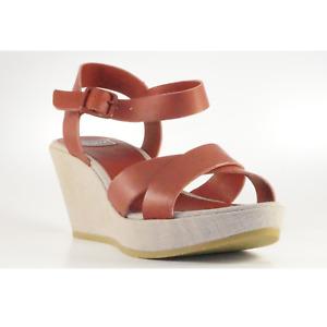 Lacoste Maddie Leather Damen Leder Keil Sandale Ledersandale Damensandale Schuhe