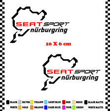PEGATINA/STICKER/DECAL/AUFKLEBER/VINYL SEAT SPORT NURBURGRING
