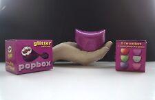 Pringles Pop Box Purple Sparkly New in original box.Quite Rare Lunch box extra