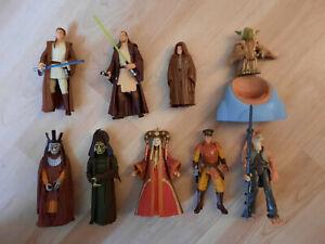 9 Star Wars Figuren Sammlung Hasbro POTF2 aus Episode 1