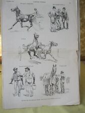 Vintage Print,SKETCHES OF FLEETWOOD,Horse,Harpers,Oct.1888