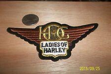"""Ladies of Harley"" HOG patch collectible HD motorcycle biker emblem souvenir"