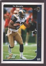 YO MURPHY 2002 SCORE FINAL SCORE GOLD MINT SP ST. LOUIS RAMS /100 $12