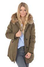 Damen Parka Jacke Winter Fashion FL1601 Kapuze Echtfell warm outdoor Freshlions