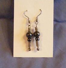 Dangle Hematite 2 Silver Earrings